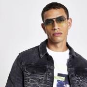 River Island Mens Yellow aviator sunglasses (One Size)