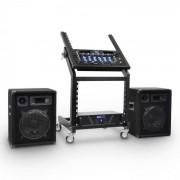 Electronic-Star 'Mercury Beat' Amplificador Altavoces DJ PARack (PL-Merkur-BT)