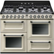 SMEG Tr4110p1 Cucina 110x60 7 Fuochi A Gas Triplo Forno Classe A Colore Panna