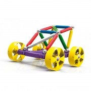 Jucarii Magnetice Supermag Maxi Wheels Set Constructie 40 Piese