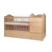 Kinder Möbel Reni Kombi ágy 3 fiókos 60x120cm (4 csomagos) #Bükk