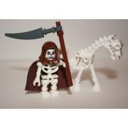 LEGO Skeleton Reaper with Skeleton Horse (Loose) Castle Mini Figure (In Brown)