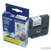 BROTHER TZ Tape, 6mm Black on White, Laminated, 6m lenght, for P-Touch (TZE211)