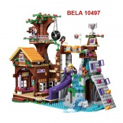 BELA 10497 Building Bricks Compatible with Lego Friends Blocks Adventure Camp Tree House 41122 Emma Mia Figure Toy For Children