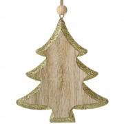 Decoratiune brad Craciun din lemn - Noel