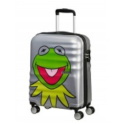 AMERICAN TOURISTER Disney Wavebreaker Trolley Muppets Kermit Sparkle 55cm