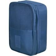 Shopper52 Multi-Purpose Travel Shoe Bag Shoe Storage Pouch Footwear Storage Organizer Pouch Shoe Holder (2 Layer Bag) for Men and Women Travel Toiletry Kit(Blue)