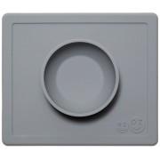 Глубокая тарелка Ezpz Happy Bowl Grey серый