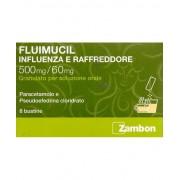 Zambon Fluimucil Influenza E Raffreddore 500mg/60mg 8 Bustine