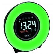 Настолен часовник със зарядно за телефон, светлина и природни звуци - 60.2023.02