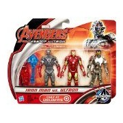 """Marvel Avengers Age Of Ultron Iron Man Vs Ultron Exclusive 3 3/4"""" Action Figure 3-Pack - Multi Color"""