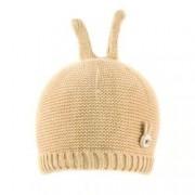 Caciula bebe-fetita cu urechi micute de iepuras C418-76 bej