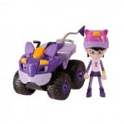 REV & ROLL - BEST BUDDIES TOY CAR - Vehículo de callejón de 17 cm con funciones mecánicas y su figura de Avery de 10 cm - Jug