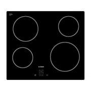 GARANTIE 5 ANI Plita vitroceramica radianta Bosch, 4 zone de gatit HighSpeed, 60 cm, Negru PKE611D17E