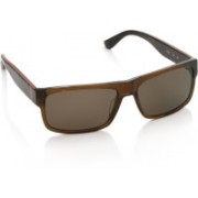 Salvatore Ferragamo Rectangular Sunglasses(Brown)
