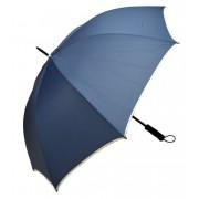 Umbrela Samurai XL ICONIC Automata, Bleumarin cu margine crem, Ø140cm, articulatii anti-vant