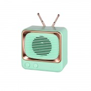 Mini Portable Retro Style TV Shape Bluetooth 5.0 Speaker Support TF Card - Green