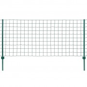 vidaXL Set de gard Euro, 20 x 1,2 m, oțel, verde