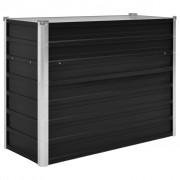 vidaXL Vaso/floreira jardim em aço galvanizado 100x40x77 cm antracite