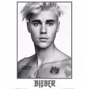 Geen Poster Justin Bieber zwart/wit 61 x 91 cm - Action products