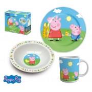 Set mic dejun 3 piese ceramica Peppa Pig