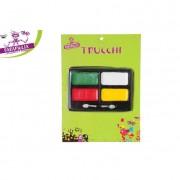 Set trucco 4 colori con pennelli per dipingere volto 442141 617