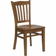 Flash Furniture Wood Dining Chair - Cherry Finish, 800-Lb. Capacity, 16 3/4Inch W x 20 3/4Inch D x 34 1/2Inch H, Model XUDGW0008VRTCHY