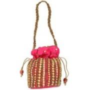 Motherland Designer Case Potli(Pink)