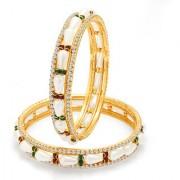 Sukkhi Glorious Gold Plated Pearl AD Bangle For Women 32056BADKR800Sukk0