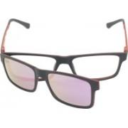 FIZAN Rectangular Sunglasses(Clear, Pink)