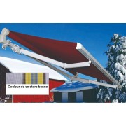 Bouvara Store banne manuel 5x3m bleu et jaune avec semi-coffre