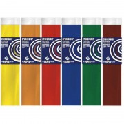 Haza 6x Crepe papier basis pakket 250 x 50 cm knutsel materiaal