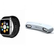 Mirza GT08 Smart Watch and Gibox G6 Bluetooth Speaker for LG OPTIMUS L1 II TRI(GT08 Smart Watch with 4G sim card camera memory card |Gibox G6 Bluetooth Speaker )
