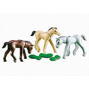Playmobil 3 FOALS WITH FEED #6263