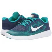 Nike Free RN 2 (Big Kid) Binary BlueWhiteTurbo Green