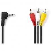 Nedis CVGP22400BK10 3.5mm Jack - 3x RCA kábel 1m - fekete