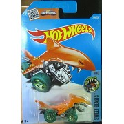 Orange Shark Bite Hot Wheels 2016 Street Beasts 8/10 1:64 Scale Collectible Die Cast Metal Toy Car Model #208/250 on International Long Card