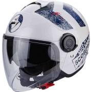 Scorpion Exo City Heritage Jet Helmet White/Blue