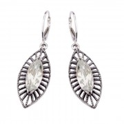 Kolczyki srebrne z cyrkoniami K 1528 : Kolor - Biały