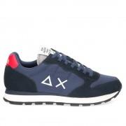 Sun68 Scarpe Uomo Sneakers Tom Solid Nylon Navy Blue - Grigio Chiaro