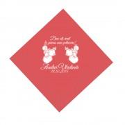 Servetele Rosii Botez Personalizate