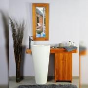 Saniteck Salle bain teck 120 cleopatra blanc porte