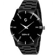 Gen-Z GENZ-SN-GUN-0011 Black dial stainless steel gun metal watch for men