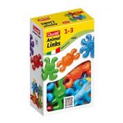 Set creativ pentru copii Colier Maxi Animale Quercetti 21 piese