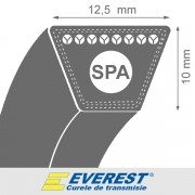 Curea de transmisie trapezoidala SPA 12.5x10x1675 La / 1657 Lp