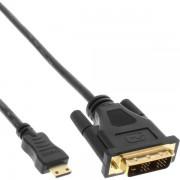 InLine Mini HDMI - DVI Single-Link Kabel 0.5m