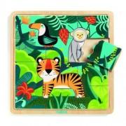 Puzzle incastru de lemn Jungla animalelor