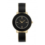 AK Anne Klein Womens Black Bangle Watch 34mm NO COLOR