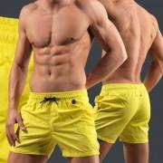 Hom Яркие мужские пляжные шорты желтого цвета HOM Marina 07024c6D