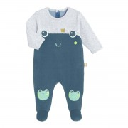 Petit Béguin Pyjama bébé velours Flip Flap - Taille - 24 mois (86 cm)